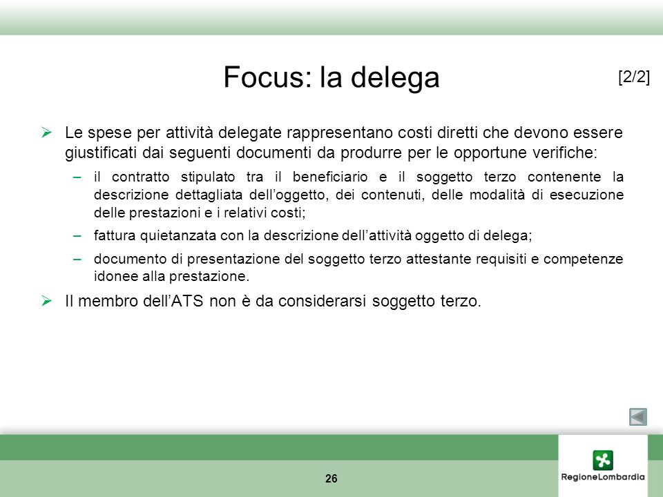 Focus: la delega [2/2]